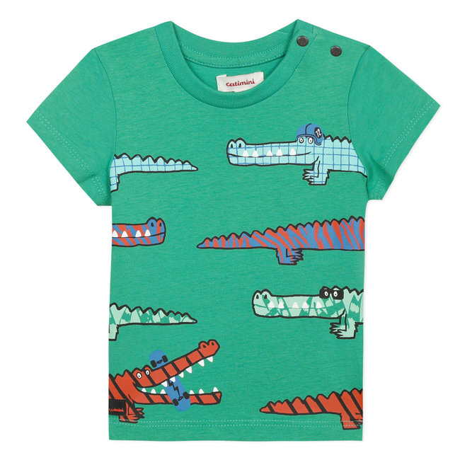 Baby boy's T-shirt with crocs motif