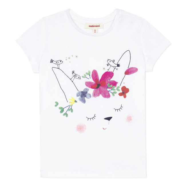 Baby girl's T-shirt with sequinned motif