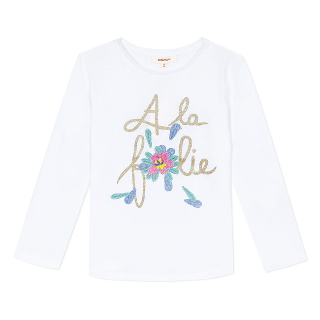 Girl's T-shirt with message motif