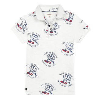 CATIMINI Boy's printed slub jersey polo shirt