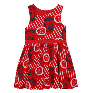 Girl's printed voile dress