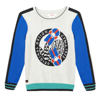 Boy's knitted pullover with jacquard motif