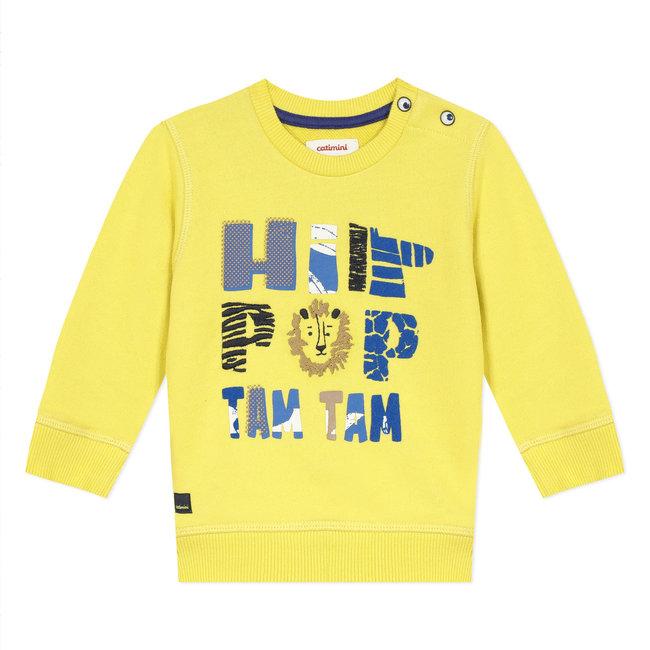 Baby boy's fleece sweatshirt with message