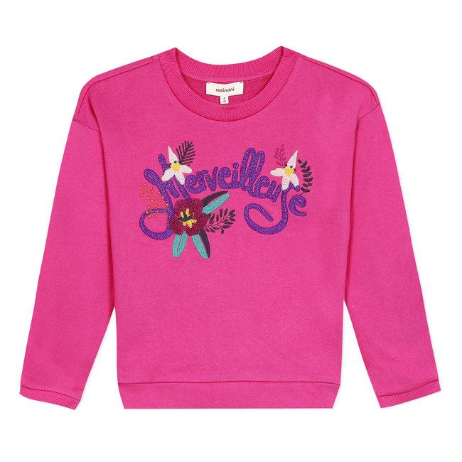 CATIMINI Girl's fleece sweatshirt with 3D visual