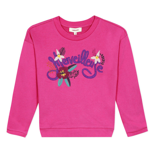 Girl's fleece sweatshirt with 3D visual