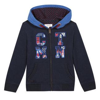 CATIMINI Boy's zipped fleece sweatshirt with patches