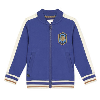 Boy's zipped sweatshirt with teddy collar