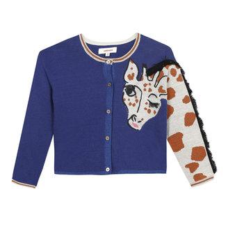 Girl's knitted giraffe cardigan