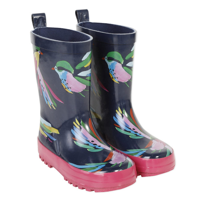 Girl's patterned wellington boots