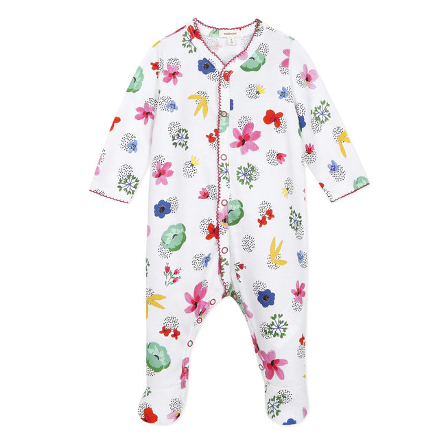CATIMINI Floral print jersey pyjamas for baby girls