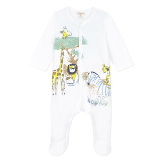 Baby boy's jersey pyjamas with savannah motif