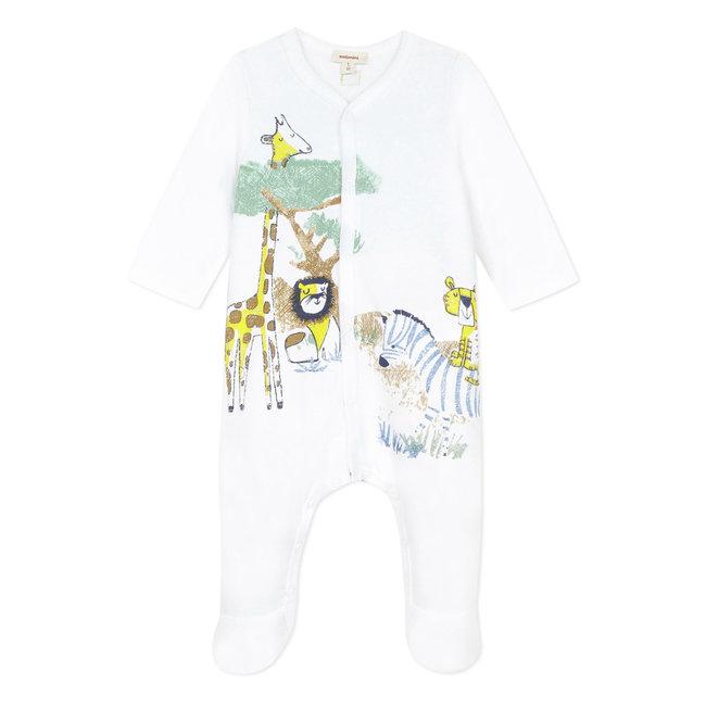 Baby boy's jersey pyjamas with savannah motif