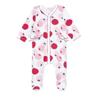 Fruity print jersey pyjamas for baby girls