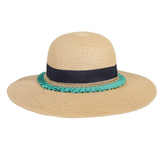 Girl's straw hat with hatband