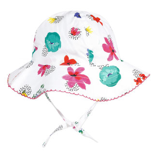 Baby girl's printed percale sun hat