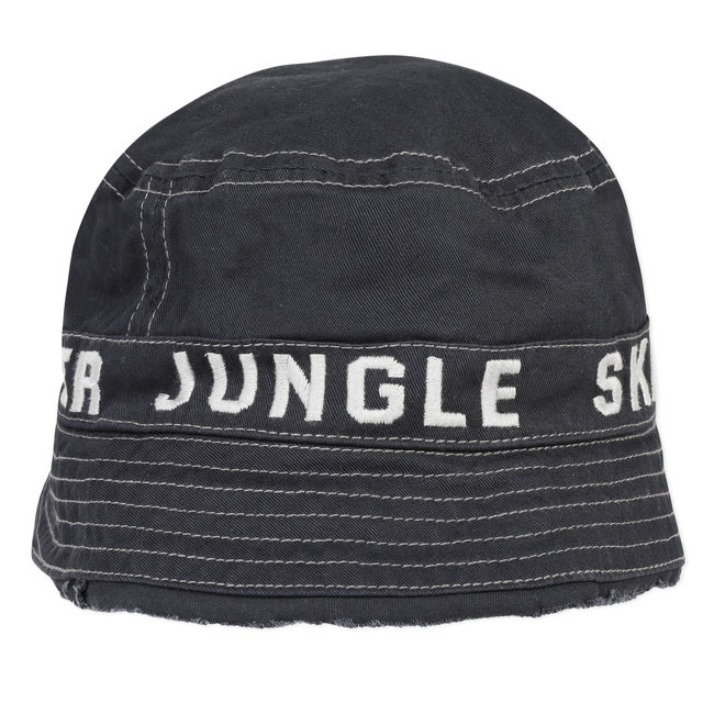 Boy's embroidered twill sun hat
