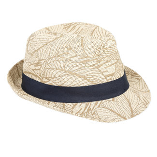 Boy's printed straw hat