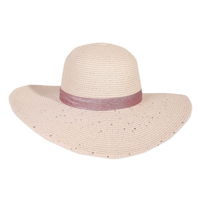 Girl's sequinned straw hat