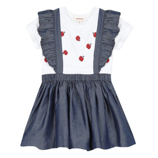 CATIMINI Baby girl's Tencel apron dress and T-shirt