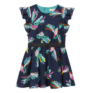 CATIMINI Girl's iridescent printed voile dress