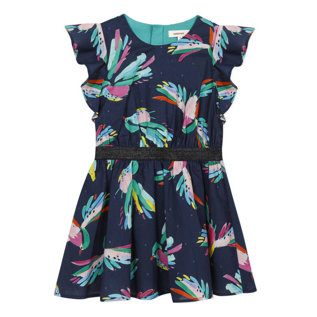 Girl's iridescent printed voile dress