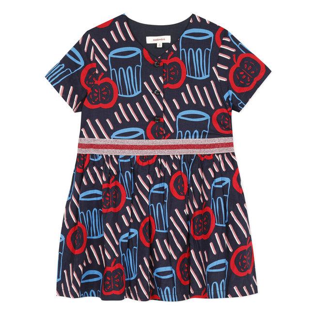 Girl's printed voile smock dress