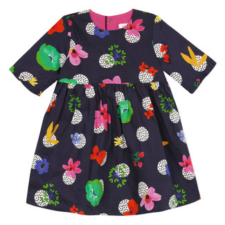 Baby girl's printed percale dress