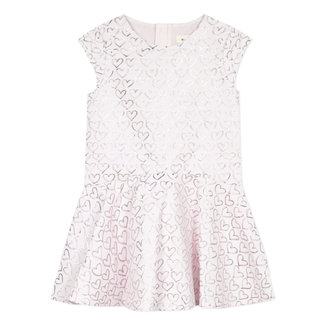 CATIMINI Girl's special occasion jacquard hearts dress