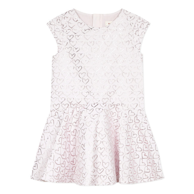 Girl's special occasion jacquard hearts dress