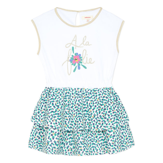 CATIMINI Girl's jersey dress with motif and print