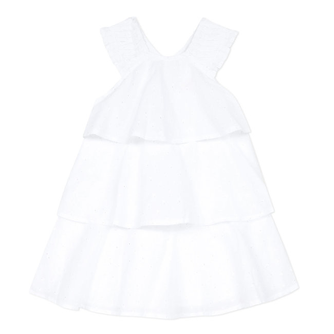 Iridescent plumetis children's dress