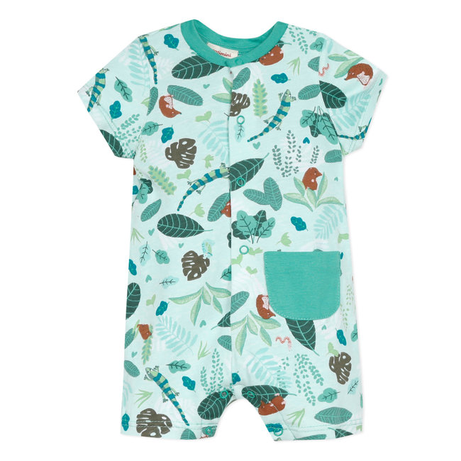 Baby boy's printed jersey romper