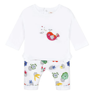 Baby girl's double jersey T-shirt and trousers