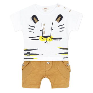 Baby boy's jersey T-shirt and shorts
