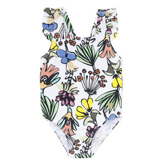 Girl's floral print swimsuit