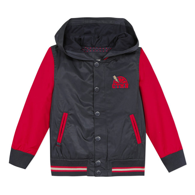 Boy's two-tone coated blouson jacket