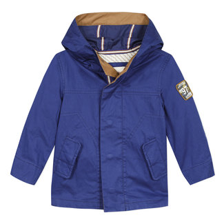 CATIMINI Boy's coated coat with embroidered back
