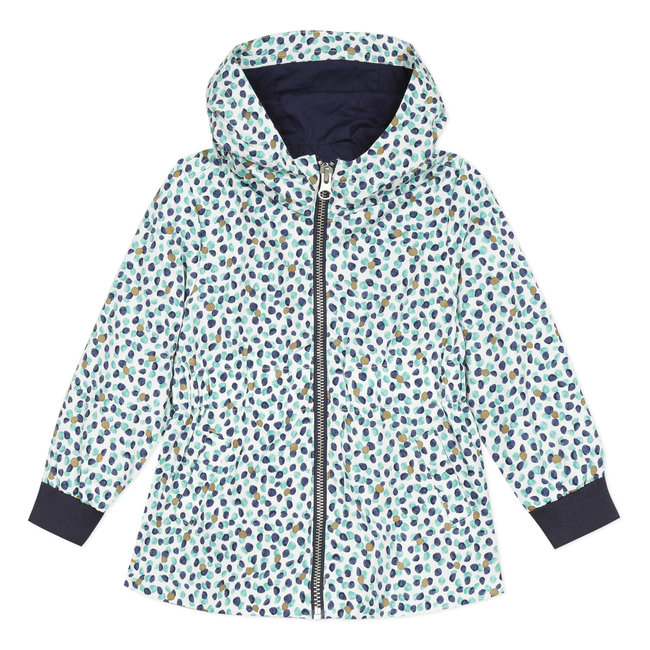 Girl's coated printed windcheater blouson