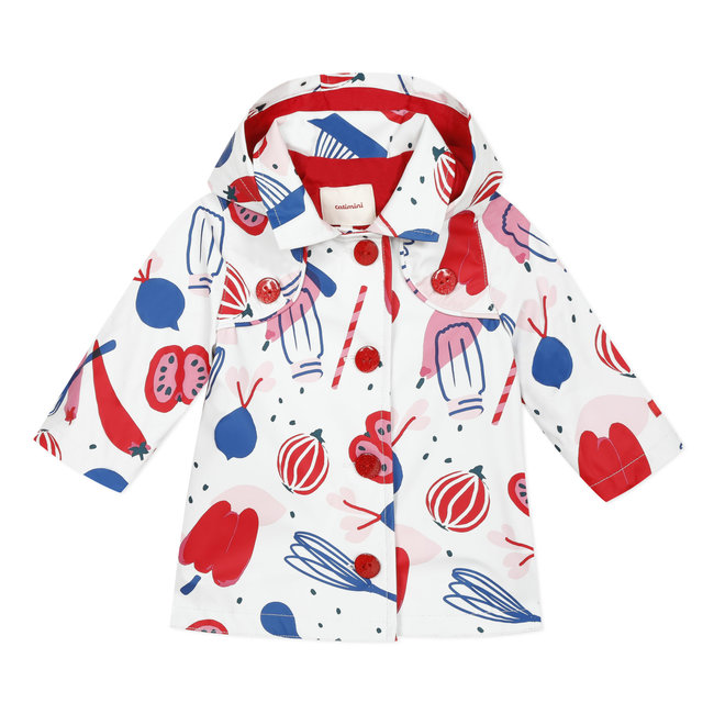 CATIMINI Baby girl's printed rubber raincoat