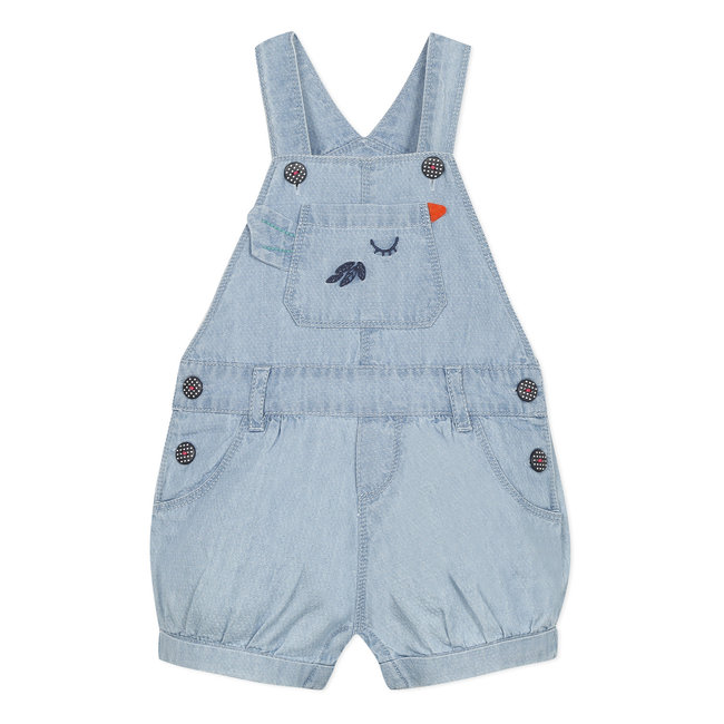 Baby girl's romper in fancy lightweight denim