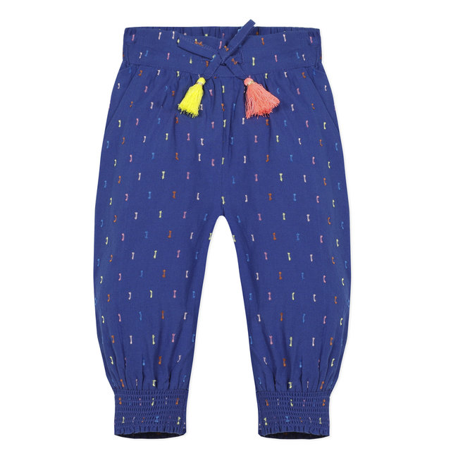 Baby girl's multicoloured dotted Swiss trousers