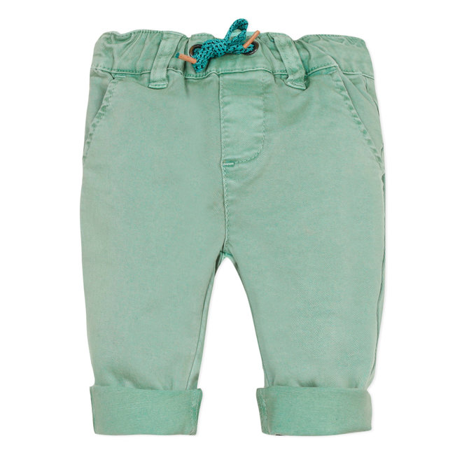 CATIMINI Baby boy's mint green twill trousers