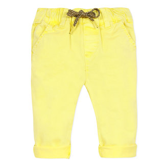 Baby boy's sunny yellow twill trousers