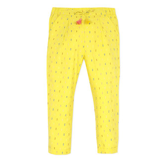 Girl's multicoloured percale dotted Swiss trousers