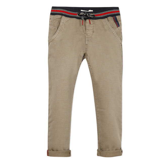 Boy's beige knit denim trosuers