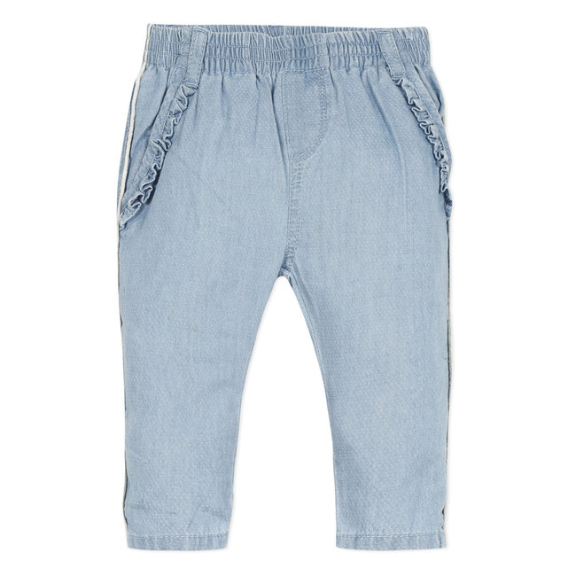 Baby girl's light fancy denim neo-joggers