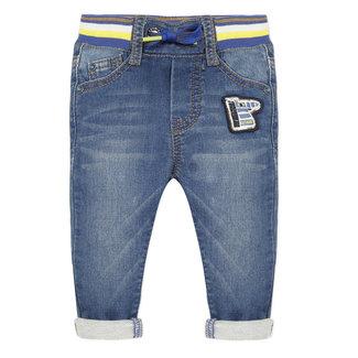 Baby boy's knit denim jeans