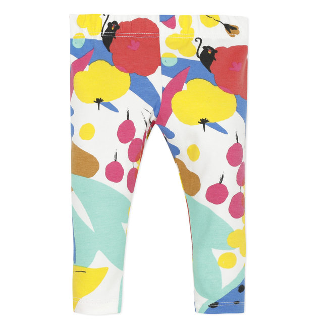 Baby girl's printed stretch jersey leggings