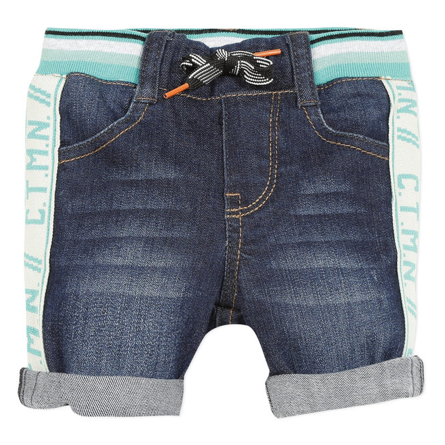 Baby boy's black denim Bermuda shorts