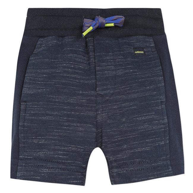 Baby-boy's ribbed-effect fleece Bermuda shorts